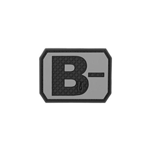 B- Blood Type PVC - Morale Patch - SWAT