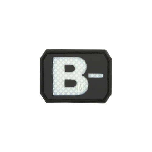 B- Blood Type PVC - Morale Patch - Glow In The Dark