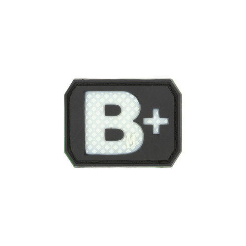 B+ Blood Type PVC - Morale Patch- Glow In The Dark