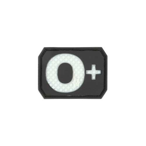 O+ Blood Type PVC - Morale Patch - Glow In The Dark