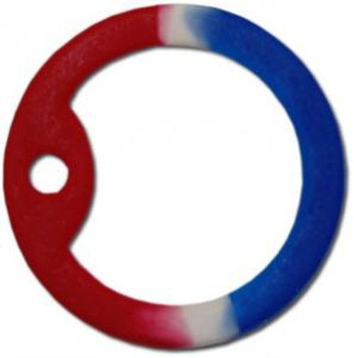 Dog Tag Silencers - Red, White & Blue