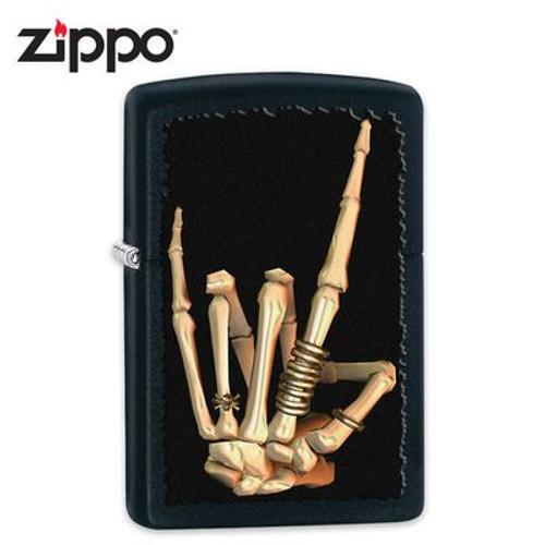 Zippo Skeleton Hand Windproof Lighter