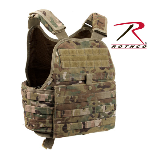 Rothco MOLLE Plate Carrier Vest - MultiCam