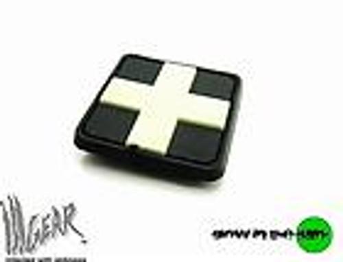 PVC Redcross Medic - Grey/Black - Morale Patch