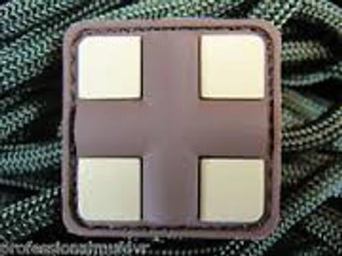 Mini PVC Redcross Medic - Desert - Morale Patch
