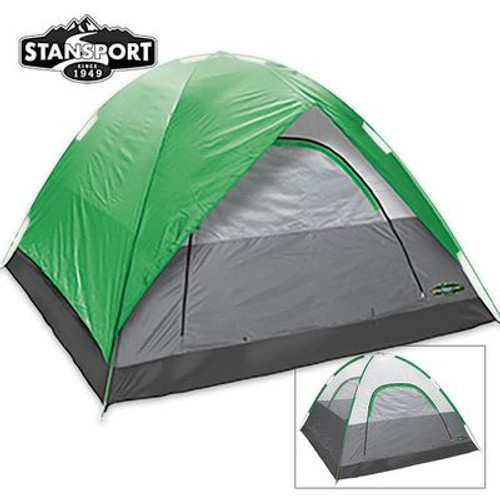 Stansport Cedar Mesa 3-Person Tent With Fly 7 ft x 7 ft x 54 in.