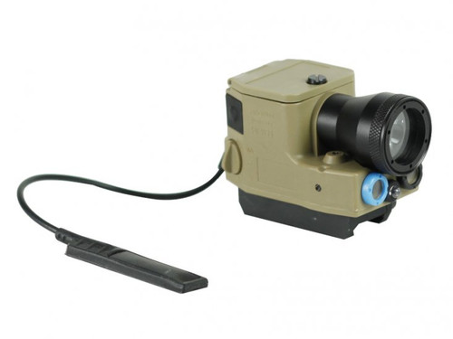 Bravo Airsoft ELM01 Flashlight and Laser Aiming Module - Dark Earth