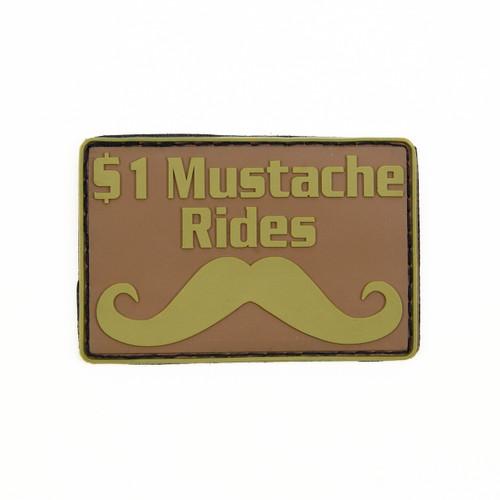 $1 Mustache Rides - Tan - Morale Patch
