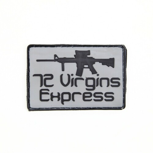 72 Virgins Express - Grey - Morale Patch