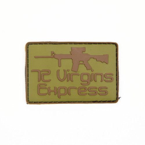72 Virgins Express - Tan - Morale Patch