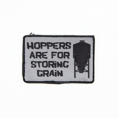 Hoppers Are For Storing Grain - Grey - Morale Patch