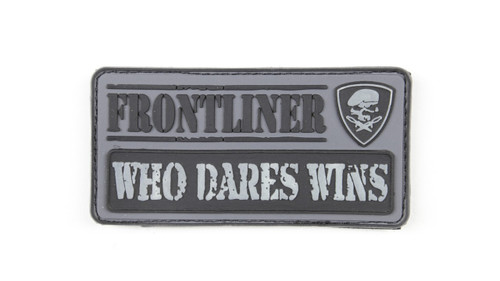 Frontliner - Who Dares Wins - Grey - Morale Patch