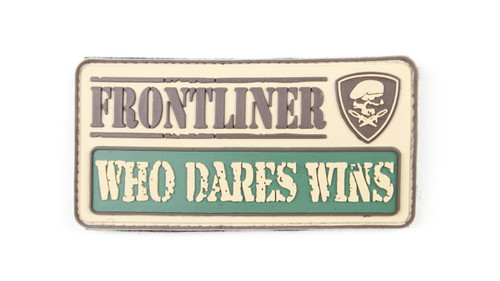 Frontliner - Who Dares Wins - Tan - Morale Patch