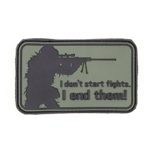 I Don't Start Fights - OD Green - Morale Patch