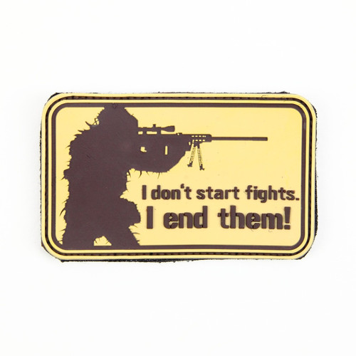 I Don't Start Fights - Tan - Morale Patch