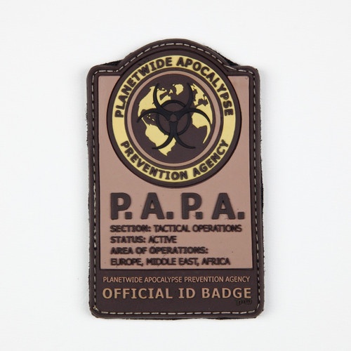 P.A.P.A (Planetwide Apocalypse Prevention Agency) - Tan - Morale Patch