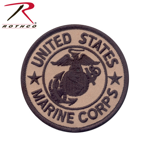 """Rothco Marine Corps Patch W/ Hook & Loop 3"""" - Morale Patch"""