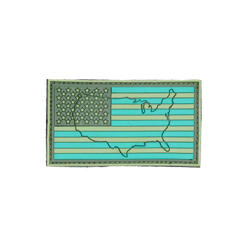 US Flag - Green (Raised) - Morale Patch