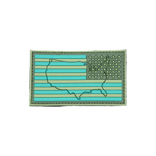 US Flag - Green Reverse (Raised) - Morale Patch