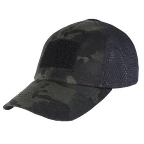 Condor Mesh Tactical Cap - Multicam Black