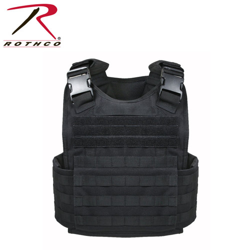 Rothco MOLLE Plate Carrier Vest - Black