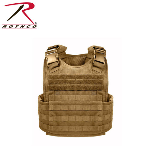 Rothco MOLLE Plate Carrier Vest - Coyote Brown