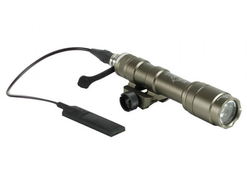 Bravo Airsoft Full Size Scout Tactical Flashlight w/ Pressure Pad and Mount - Dark Earth