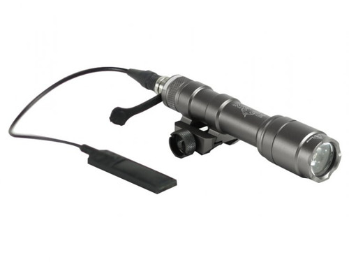 Bravo Airsoft Full Size Scout Tactical Flashlight w/ Pressure Pad and Mount -  Grey