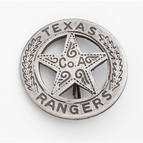 Old West Texas Ranger's Badge - Silver