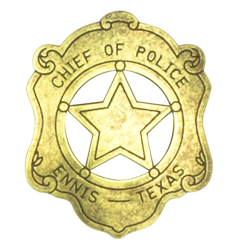 Denix Chief Of Police Badge - Ennis Texas