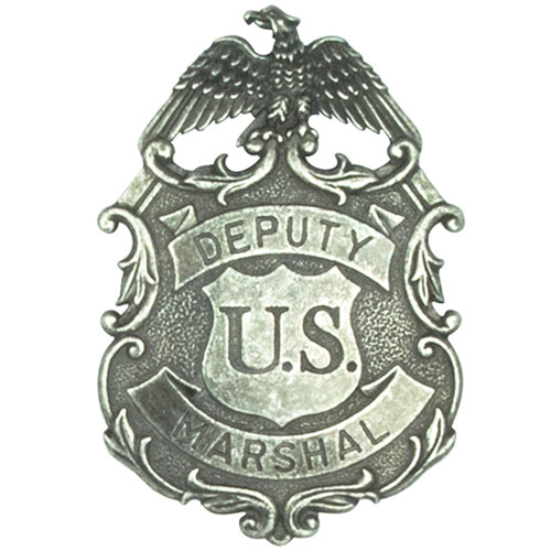 Denix Deputy United States Marshal Eagle Badge - Nickel