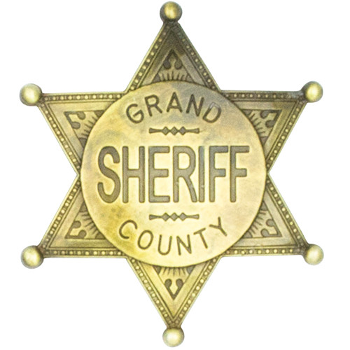 Denix Grand County Sheriff Badge - Brass