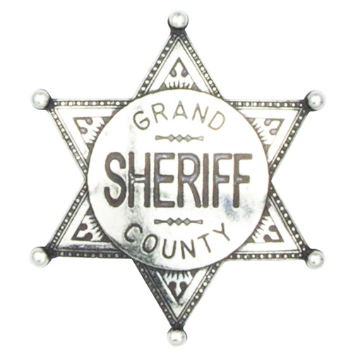 Denix Grand County Sheriff Badge - Nickel