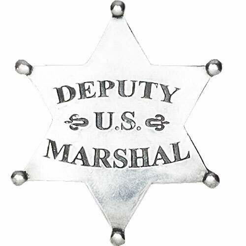 Denix Old West U.S. Deputy Marshal Badge - Silver