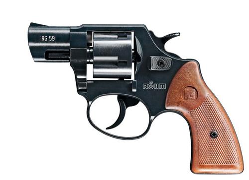 Rohm RG-59 9mm Blank Revolver - Black