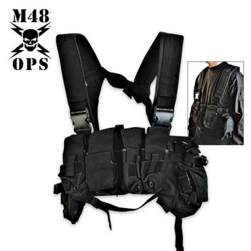 M48 Gear Tactical Bellyband Vest Black