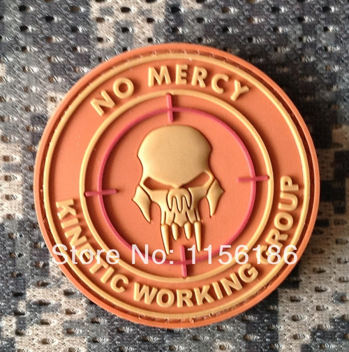 No Mercy Kinetic Working Group PVC - Tan - Morale Patch