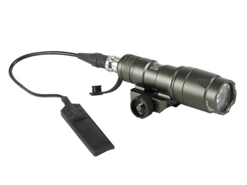Bravo Airsoft Mini Tactical Flashlight w/ Pressure Pad and Mount - Grey