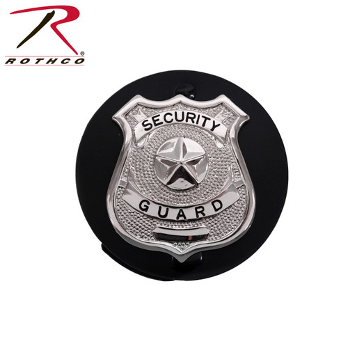 Rothco Round Leather Clip On Badge Holder