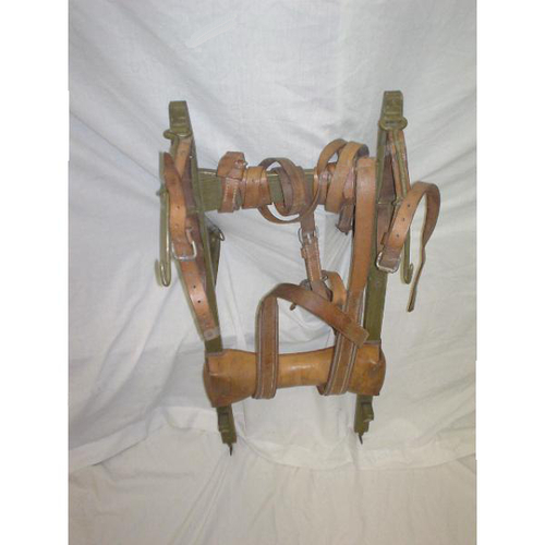 Vintage Swiss Military Wooden Rucksack Rack