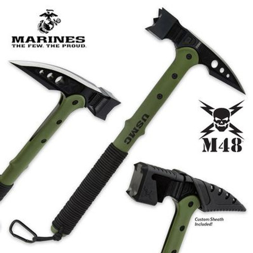 Officially Licensed USMC Tactical War Hammer w/Sheath