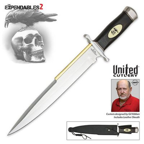 Gil Hibben Expendables 2 Toothpick Knife & Leather Sheath