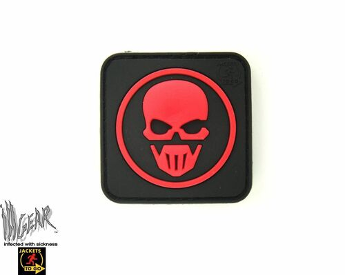 Recon Skull PVC - Red - Morale Patch