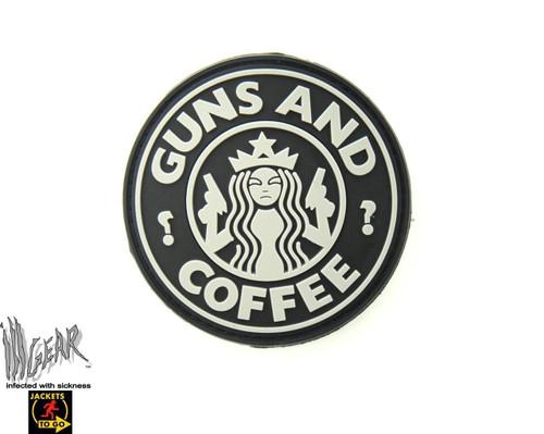 Guns & Coffee PVC - Black/Grey - Morale Patch