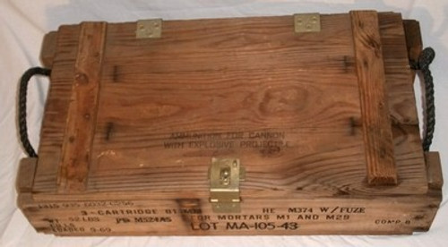 Vintage Wooden Ammo Crate For 81mm M1 And M29 Cannon