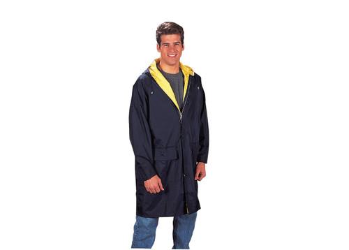 Reversible 3/4 Length Parka - Yellow/Navy Blue