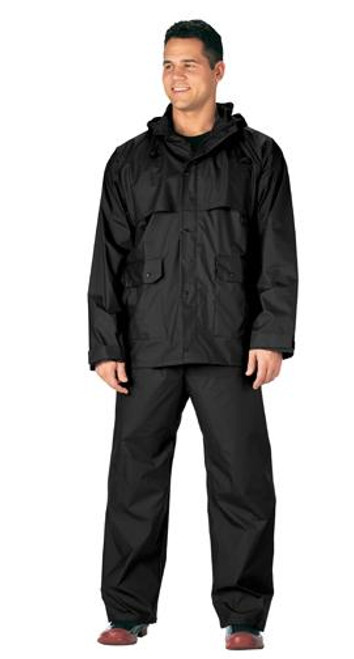 Rothco Microlite Rainsuit - Black
