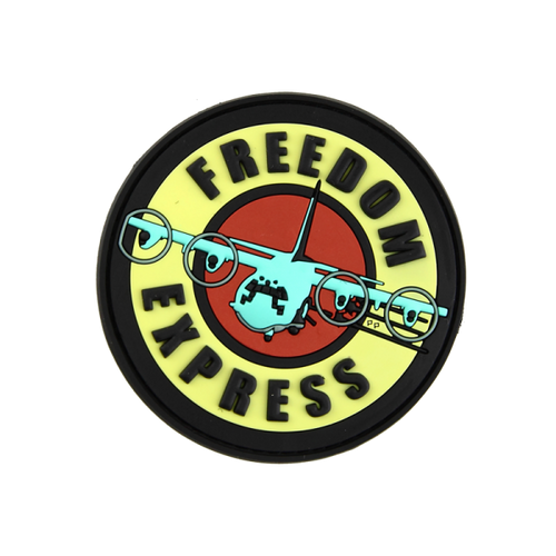 Freedom Express PVC - Morale Patch - Blue