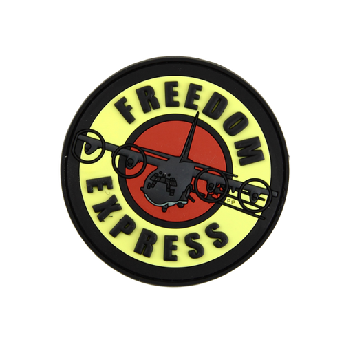 Freedom Express PVC - Morale Patch - Grey