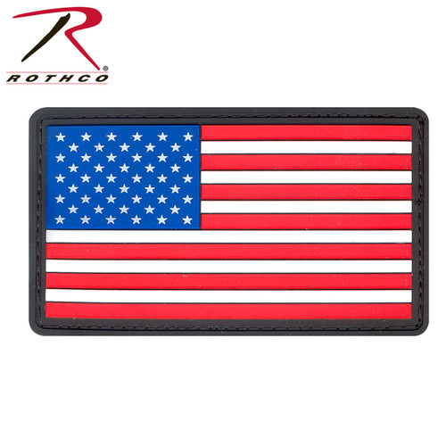PVC US Flag Patch w/Hook Back Patch